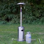 Heater in een grasveld